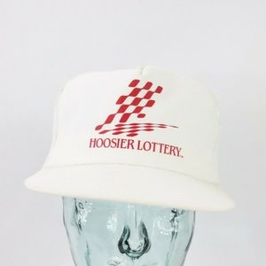 Vintage New Hoosier Lottery Indiana Trucker Hat